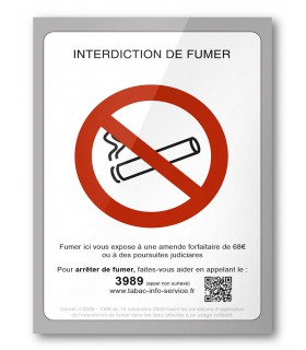 AFFICHE INTERDICTION DE FUMER