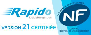 Rapido V21 certifié NF 525